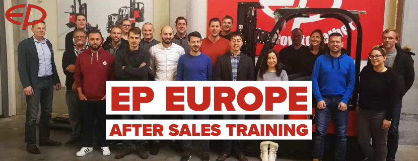 After sales training in Europe