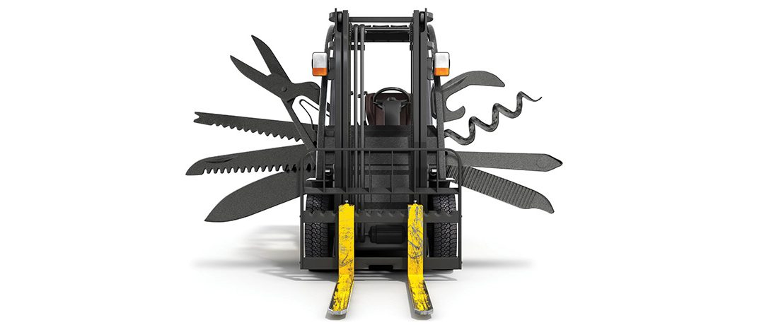 The different types of forklift truck attachments