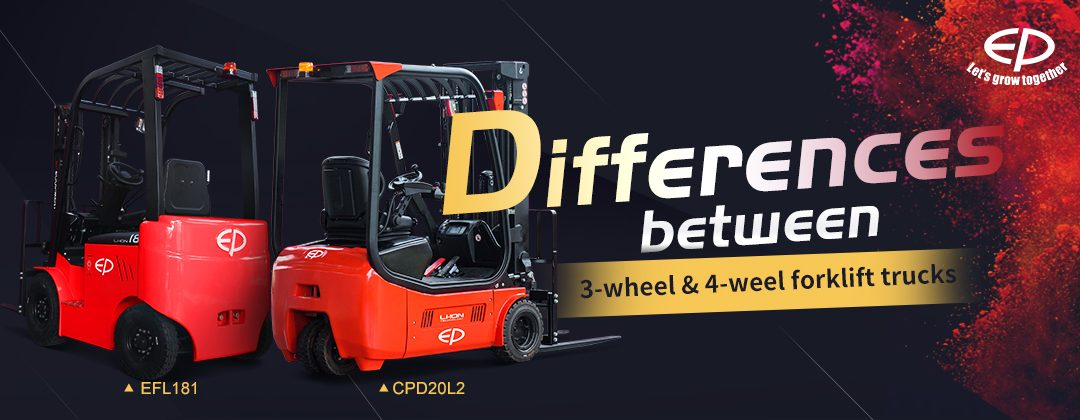 EP Differences between 3-wheel & 4-weel forklift trucks - EP Forklifts