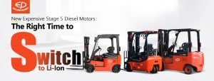 Switch to li-ion battery forklifts - EP Equipment